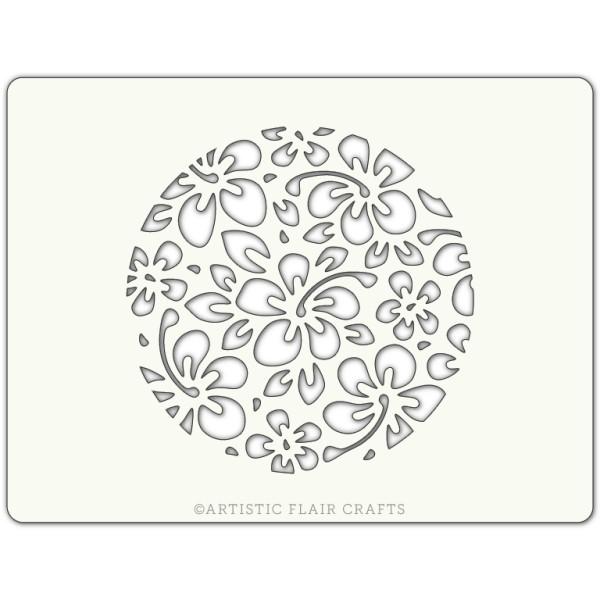 Pochoir pour pâtisseries et chocolats -  motif fleur hibiscus - Photo n°1