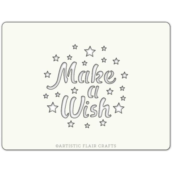 Pochoir pour pâtisseries et chocolats -  motif make a wish - Photo n°1