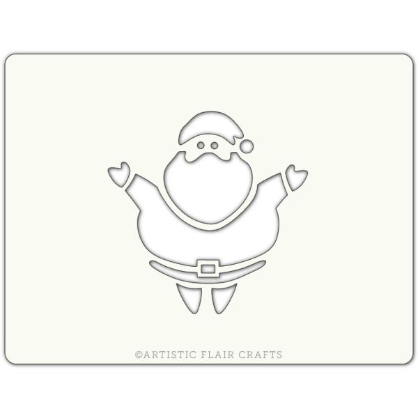 Pochoir pour pâtisseries et chocolats -  motif Père Noël - Photo n°1