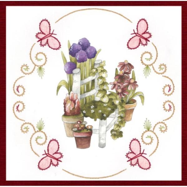 Stitch and do 155 - kit Carte 3D broderie - Le beau jardin - Photo n°2