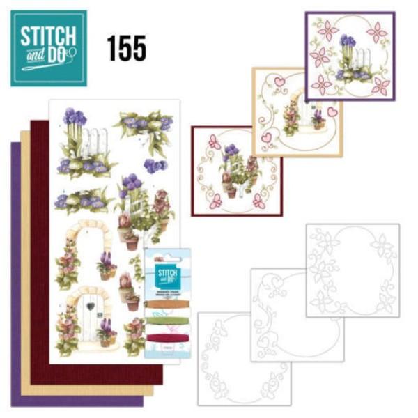 Stitch and do 155 - kit Carte 3D broderie - Le beau jardin - Photo n°1