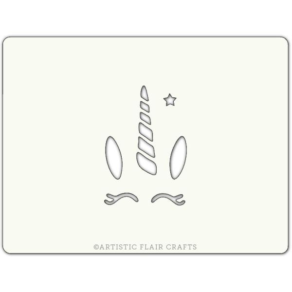 Pochoir pour pâtisseries et chocolats -  motif Licorne - Photo n°1