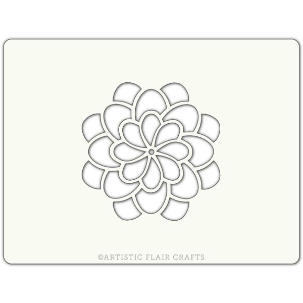 Pochoir pour pâtisseries et chocolats -  motif fleur blossom - Photo n°1