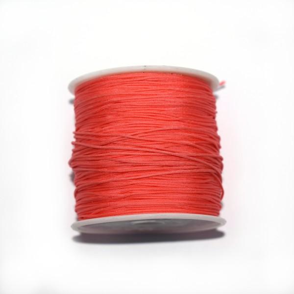 Fil nylon tressé 0,8 mm corail x1 m - Photo n°1