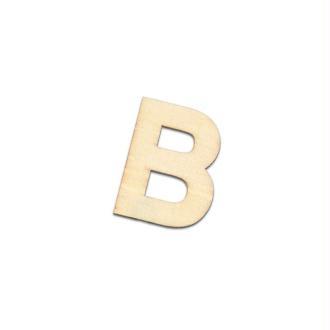 Chiffre ou lettre en bois, haut. 4 cm x ép 2 mm, au choix