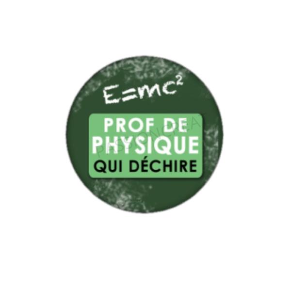 Prof de Physique qui Déchire 2 Cabochons 25 mm - Photo n°1