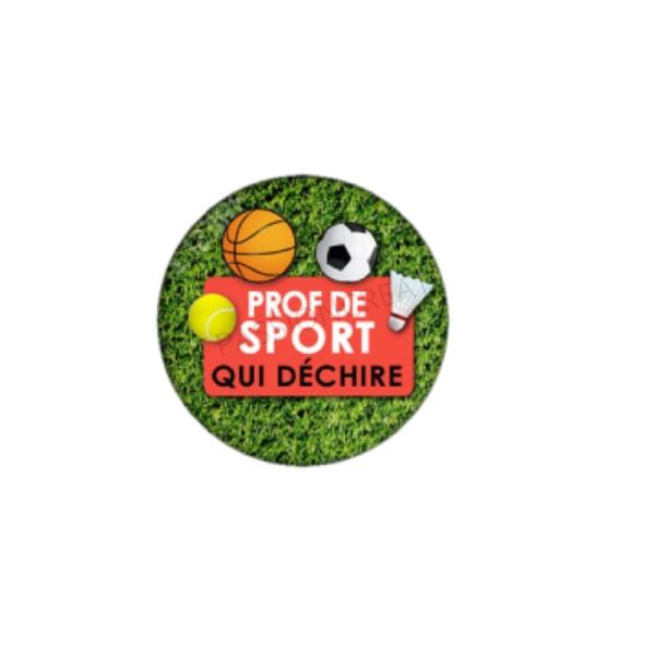 Prof de Sport qui Déchire 2 Cabochons 25 mm - Photo n°1