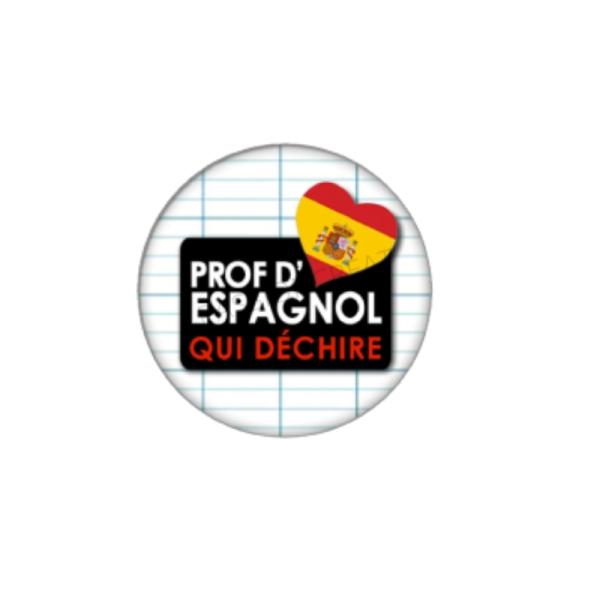 Prof d'Espagnol qui Déchire 2 Cabochons 25 mm - Photo n°1