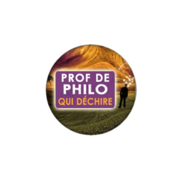 Prof de Philo qui Déchire 2 Cabochons 25 mm - Photo n°1