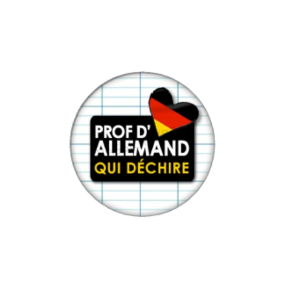 Prof d'Allemand qui Déchire 2 Cabochons 25 mm - Photo n°1