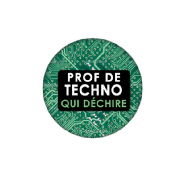Prof de Techno qui Déchire 2 Cabochons 25 mm - Photo n°1