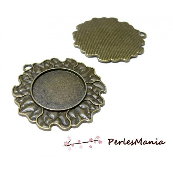 Lot de 2 pendentifs ARTY Flamme 25mm métal coloris Bronze ref 3347 - Photo n°1