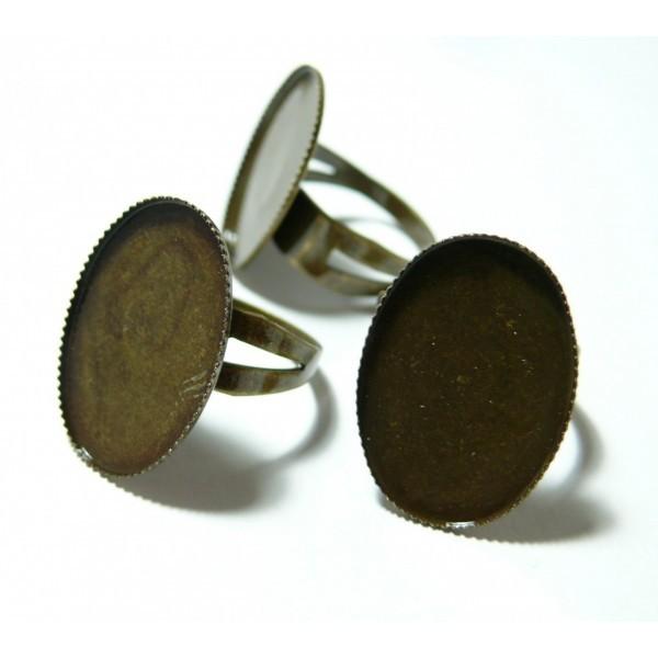 1 piece bague double qualité 18 par 25mm Plateau Bronze - Photo n°1