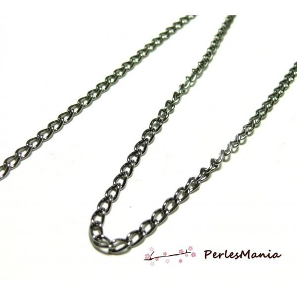 PCHS003Y PAX 5 mètres Chaine métal coloris Gun Métal 3 par 5mm fourniture pour création de bijoux - Photo n°1
