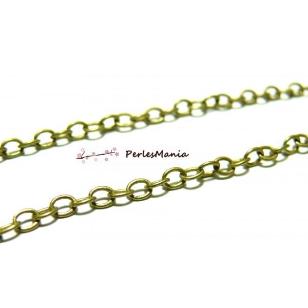HCHC025Y PAX 5 mètres Chaine maille 3.5 par 3mm laiton coloris BRONZE - Photo n°1