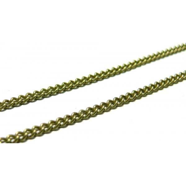 CHC010Y PAX 4 mètres Chaine maille fine 2 par 1.5mm Laiton couleur Bronze - Photo n°1