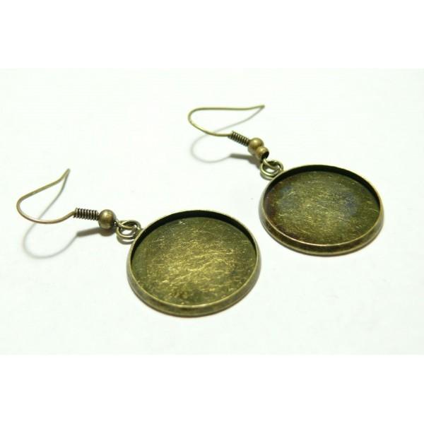 Apprêt bijoux 10 pièces Boucle d'oreille crochet Qualité 12mm BR pour image digitale - Photo n°1