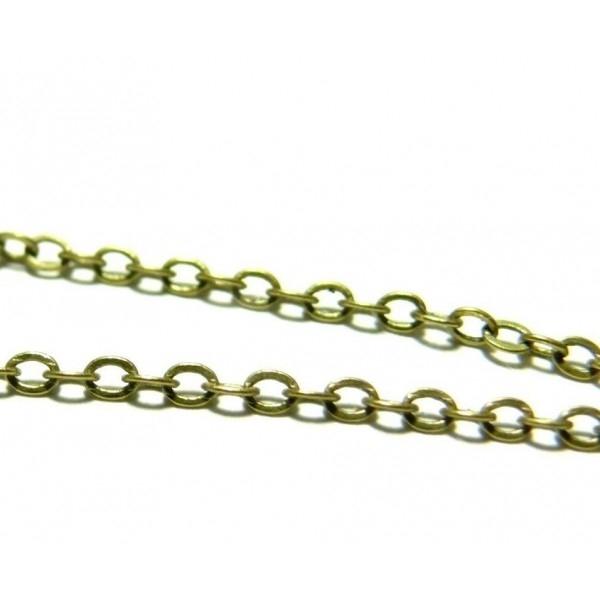 CHT120Y PAX 1 ROULEAU de 100 mètres Chaine maille fine 2mm métal coloris Bronze - Photo n°1