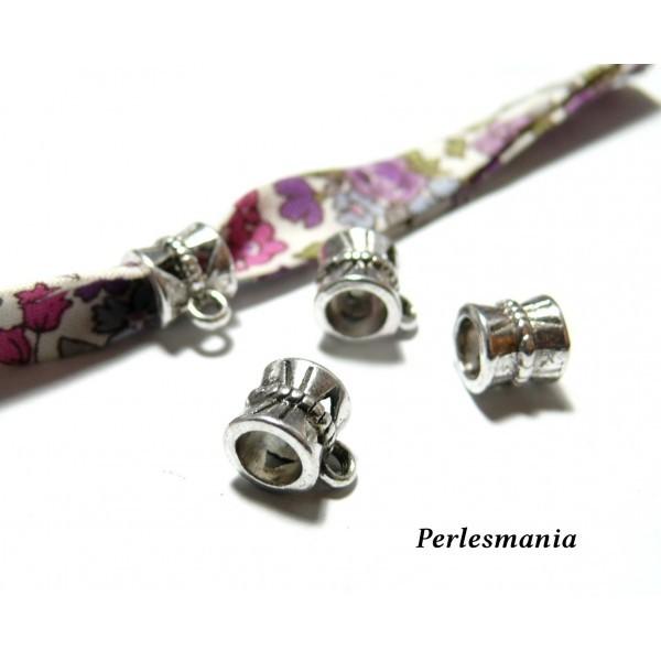 Lot de 20 pendentifs bélières métal coloris Argent Antique P30047 - Photo n°1