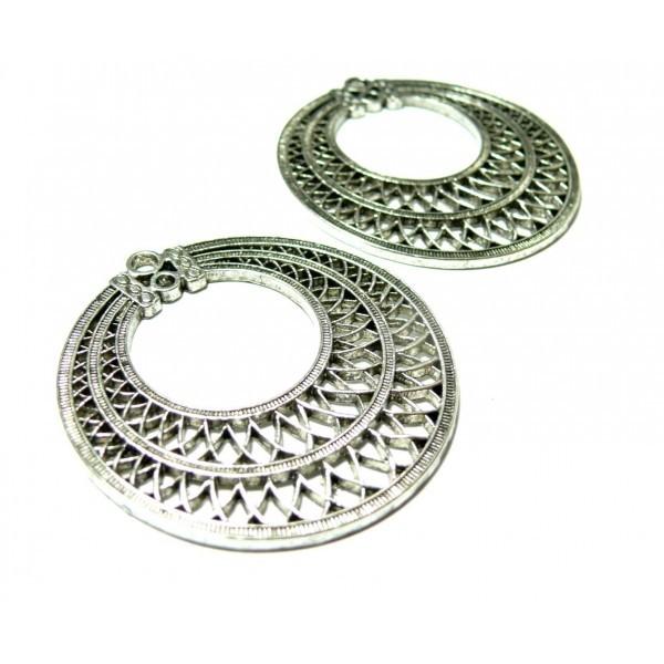 Lot de 2 magnifiques pendentifs art deco 2Y6809 VA - Photo n°1