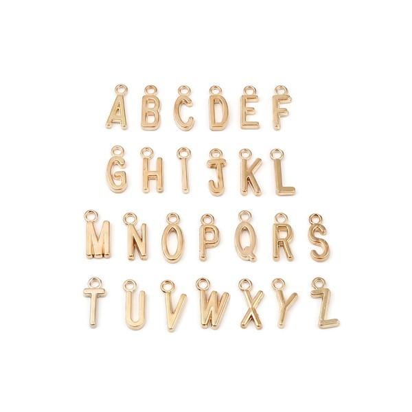 S110258222 PAX 26 Pendentifs Breloques Alphabet 16mm métal couleur Doré - Photo n°1