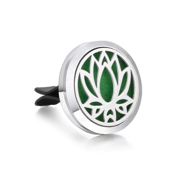 Diffuseur de parfum et Huiles Essentielles pour voiture en Inox Fleur de Lotus - Photo n°1