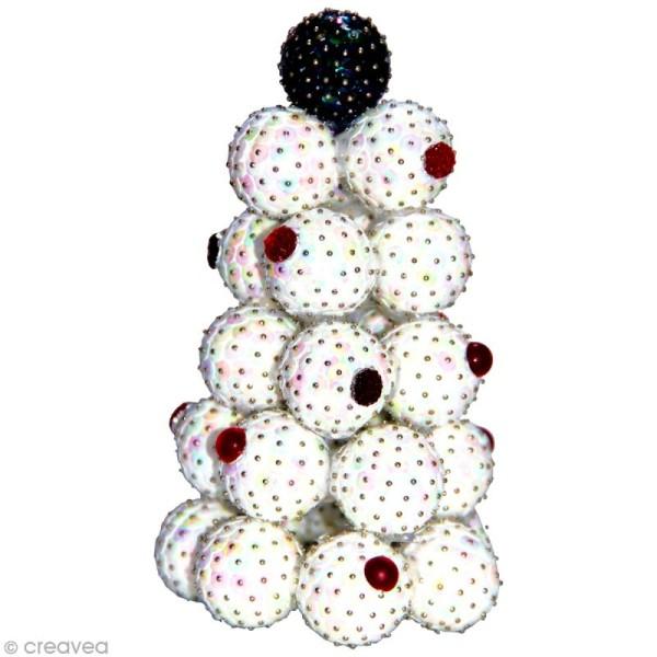 Boule polystyrène 3 cm - Photo n°2