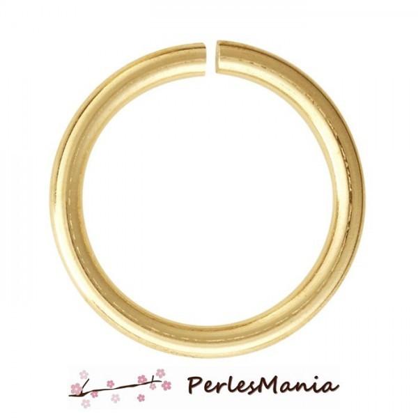 PS11104329 PAX 1000 anneaux de jonction 3mm par 0.6mm métal coloris DORE - Photo n°1