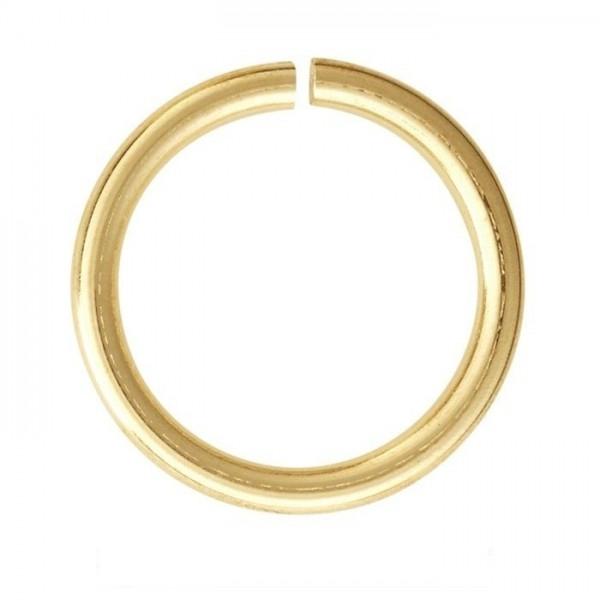 PS110100189 PAX 200 anneaux de jonction 10 mm par 1 mm métal couleur DORE - Photo n°1