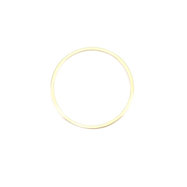 PS110201188 PAX 5 Pendentifs Connecteurs Rond 20 mm Doré en Acier Inoxydable 304 pour bijoux raffin - Photo n°1