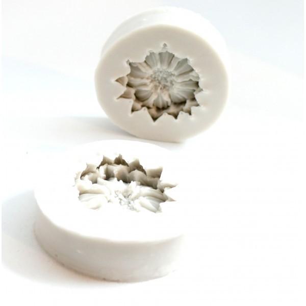 H111839 PAX 1 Moule en Silicone Pendentifs Fleur 3D format pour Creation Fimo Cernit Resine, Patiss - Photo n°1