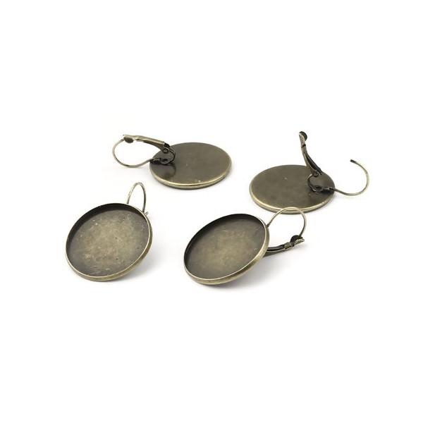 S11666844 PAX 10 supports boucle d'oreille DORMEUSE 25mm métal couleur BRONZE - Photo n°1
