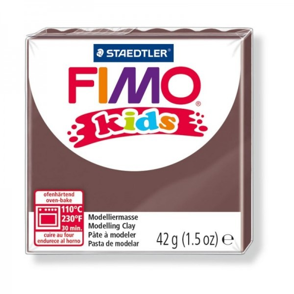 Pain Pate Fimo Kids Marron 42gr 8030-7 MODELAGE - Photo n°1