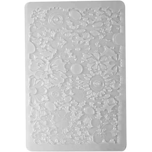 Plaque de Texture FLEURS pour Pate Fimo, Cernit, Sculpey DTM 264961 - Photo n°1