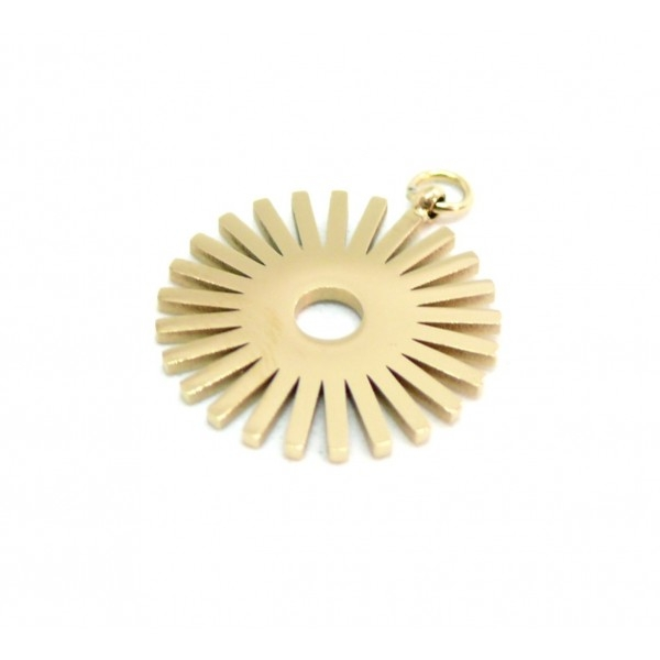 K1911021 PAX 1 Pendentif Géométrique Soleil 16mm en Acier Inoxydable Coloris Doré pour bijoux raffi - Photo n°1