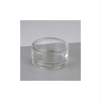Bougeoir en verre pour bougie chauffe-plat, Diamètre 5 cm, Hauteur 3cm