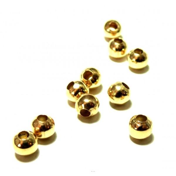 REF 137 PAX 500 perles intercalaires passants 2.4mm métal Doré - Photo n°1
