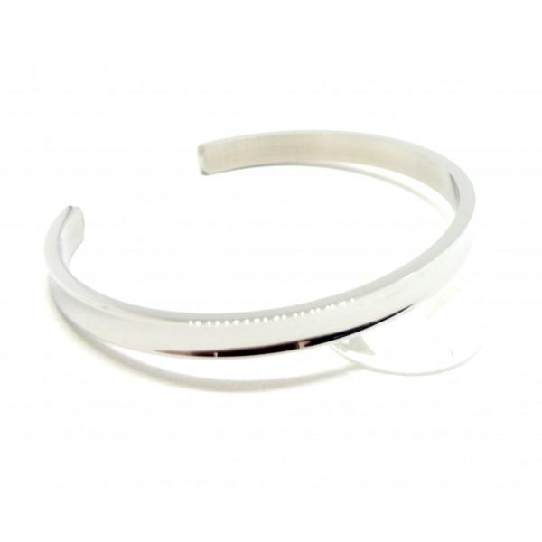BU11180410171250 PAX: 1 Support de Bracelet Manchette 6mm ACIER INOXYDABLE 304 coloris Argent - Photo n°1