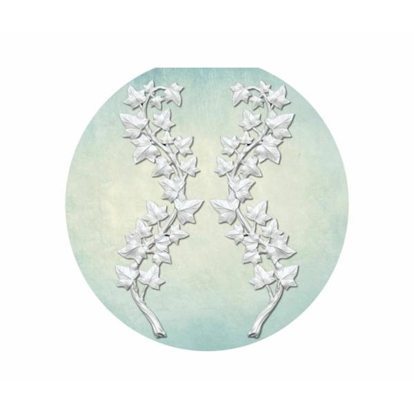 1 pc Lierre Branches 3d Silicone Uv Époxy Résine Moule Argile Scrapbooking Moule Bijoux Cire Gypse C - Photo n°1