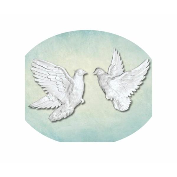 1pc 2 Colombe Amour Oiseau 3d Silicone Uv Résine Époxy Moule Argile Scrapbooking Moule Bijoux Cire G - Photo n°1