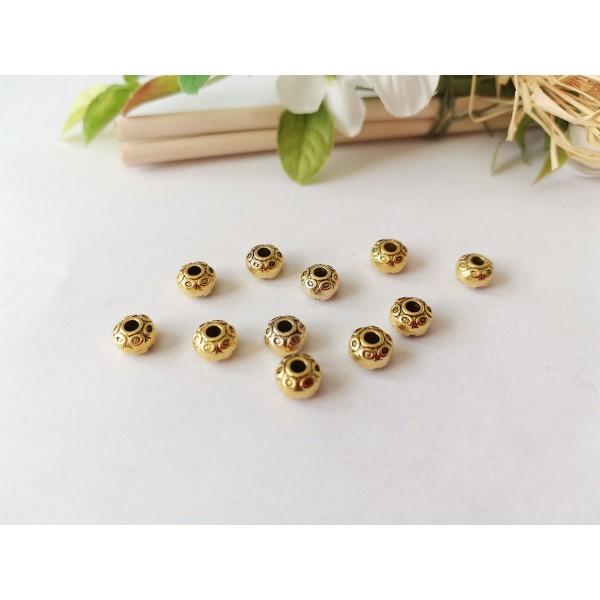 Perles métal 7 mm doré x 10 - Photo n°1