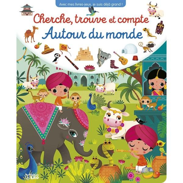 Cherche, trouve et compte Autour du monde - Editions LITO - Photo n°1