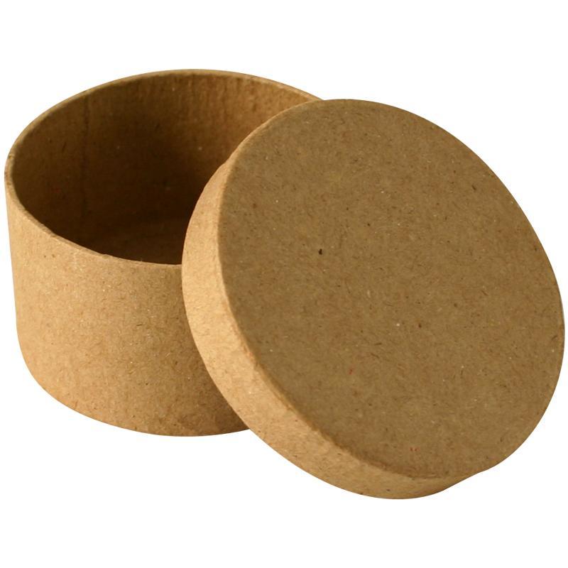 bo te en carton ronde 7 cm boite en carton d corer creavea. Black Bedroom Furniture Sets. Home Design Ideas