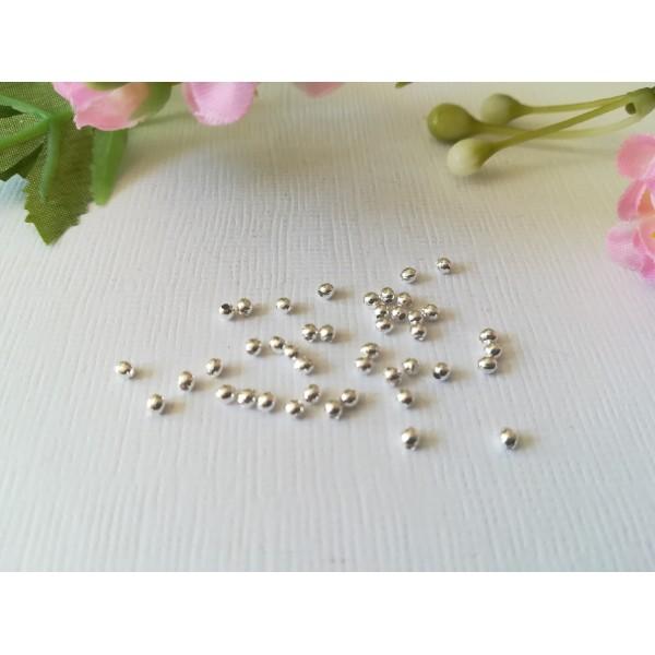 Perles métal intercalaire 2 mm argenté x 100 - Photo n°1