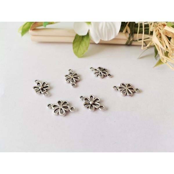 Connecteurs fleurs 15 mm argent mat x 10 - Photo n°2