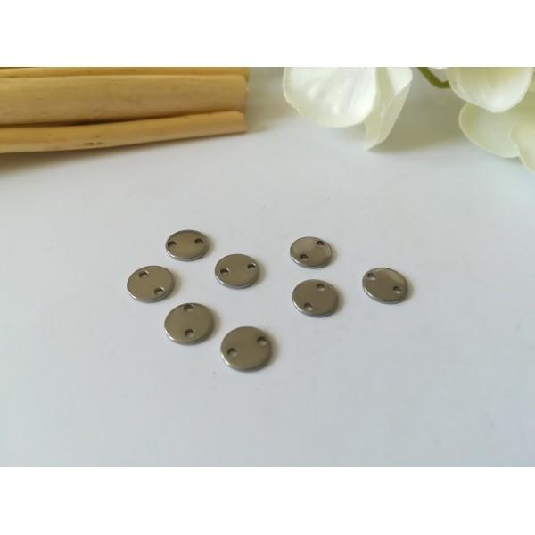 Connecteurs ronds acier inoxydable 8 mm x 10 - Photo n°1