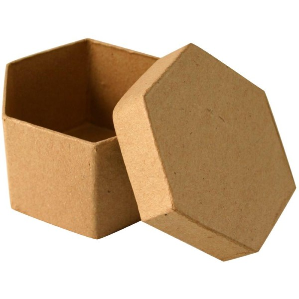 Boîte en carton hexagonale 8 cm - Photo n°1