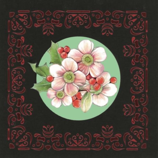 Dot and Do on Colour 3 - Kit Carte 3D - Fleurs rose de Noël - Photo n°3