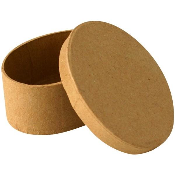 Boîte en carton ovale 9 cm - Photo n°1