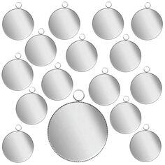 Lot de pendentifs cabochon - Rond - 24 mm - Argenté - 25 pcs